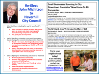 John Michitson 2013 Haverhill City Council Candidate - Haverhill, Massachusetts (MA)