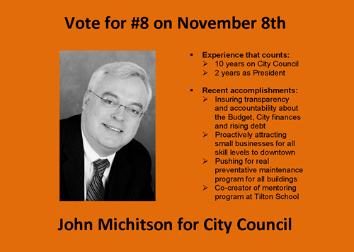John Michitson for Haverhill City Council